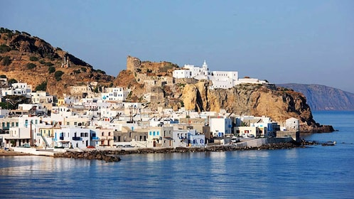 Vibrant view of the homes on Nisyros Island in Greece