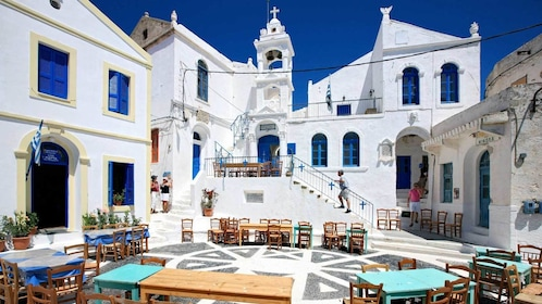 Tourists on Nisyros Island in Greece