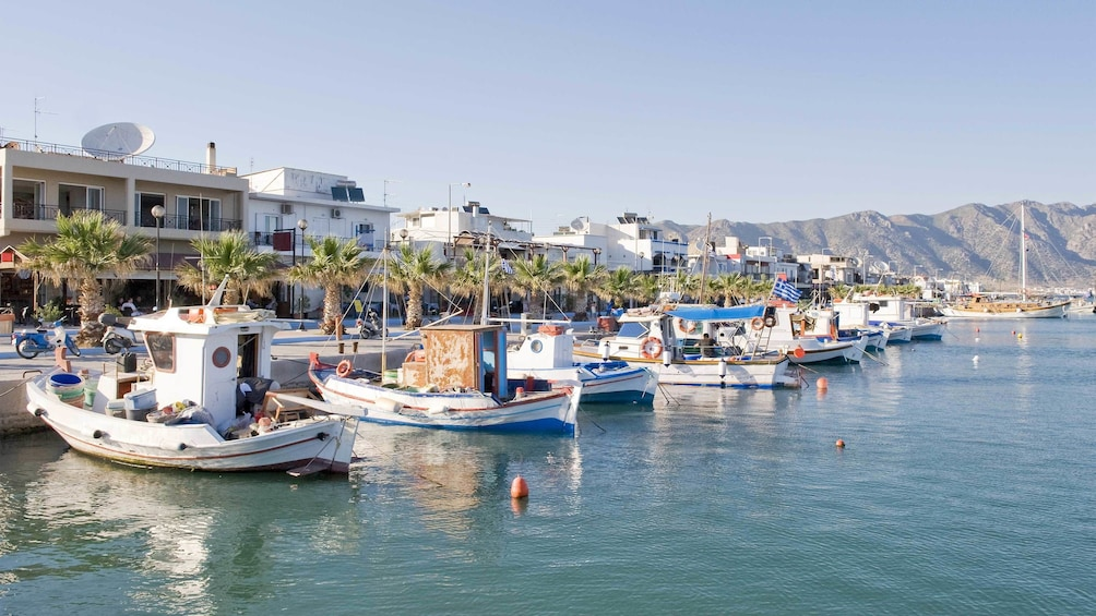 View of the dock in Kardamaina, a Town in Greece