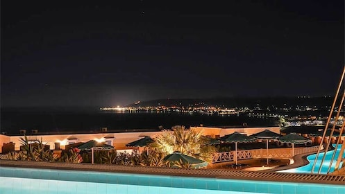 Panoramic view of Kos at night