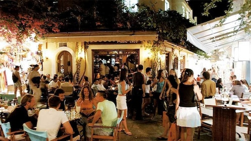 Tourists enjoying their night out in Kos