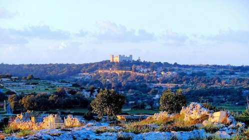 Castle on a hill in Malta