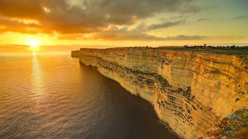Coast of Malta at sunset