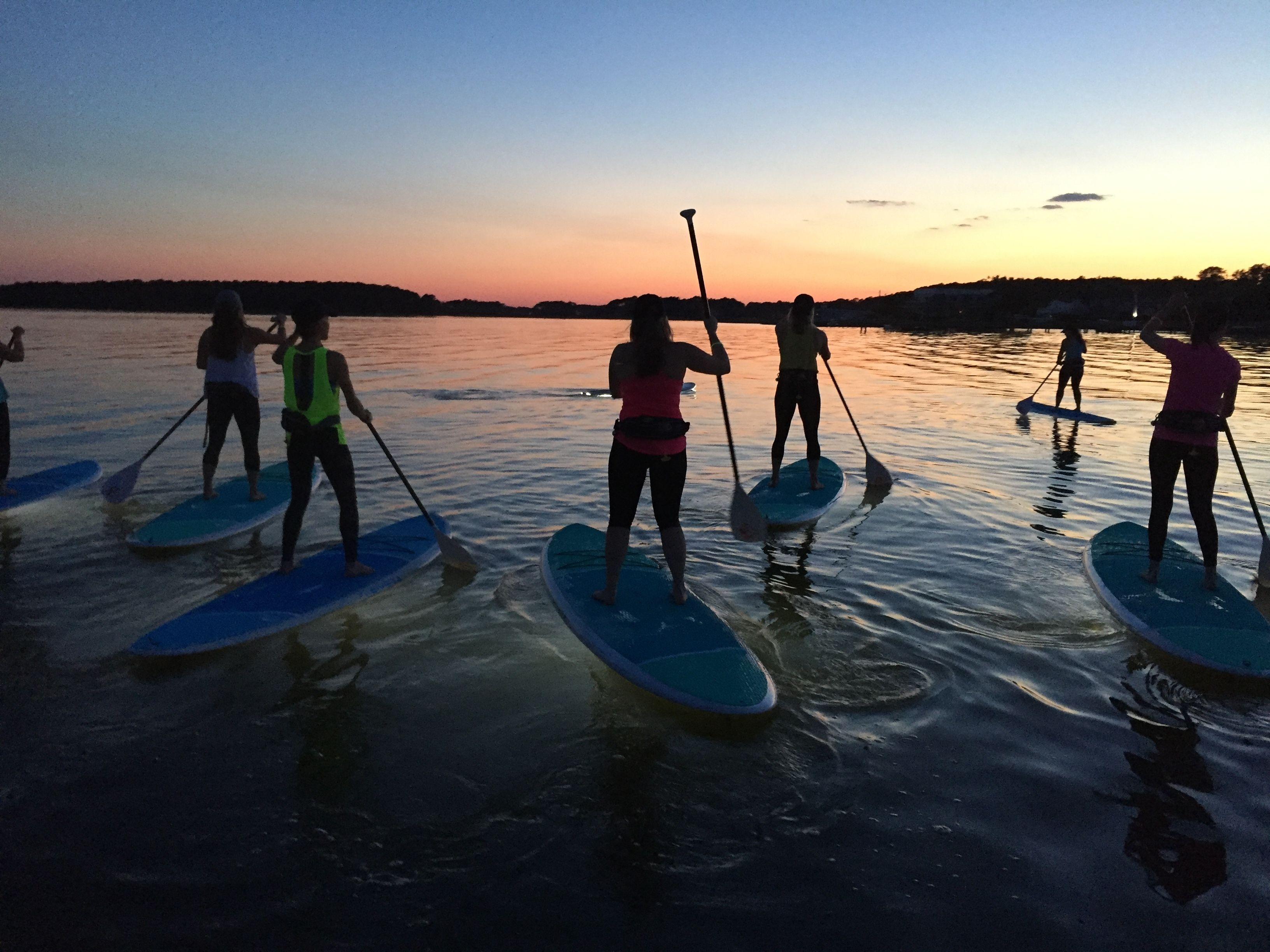 Guided Sunset Stand-Up Paddleboard Excursion in Rehoboth Bay