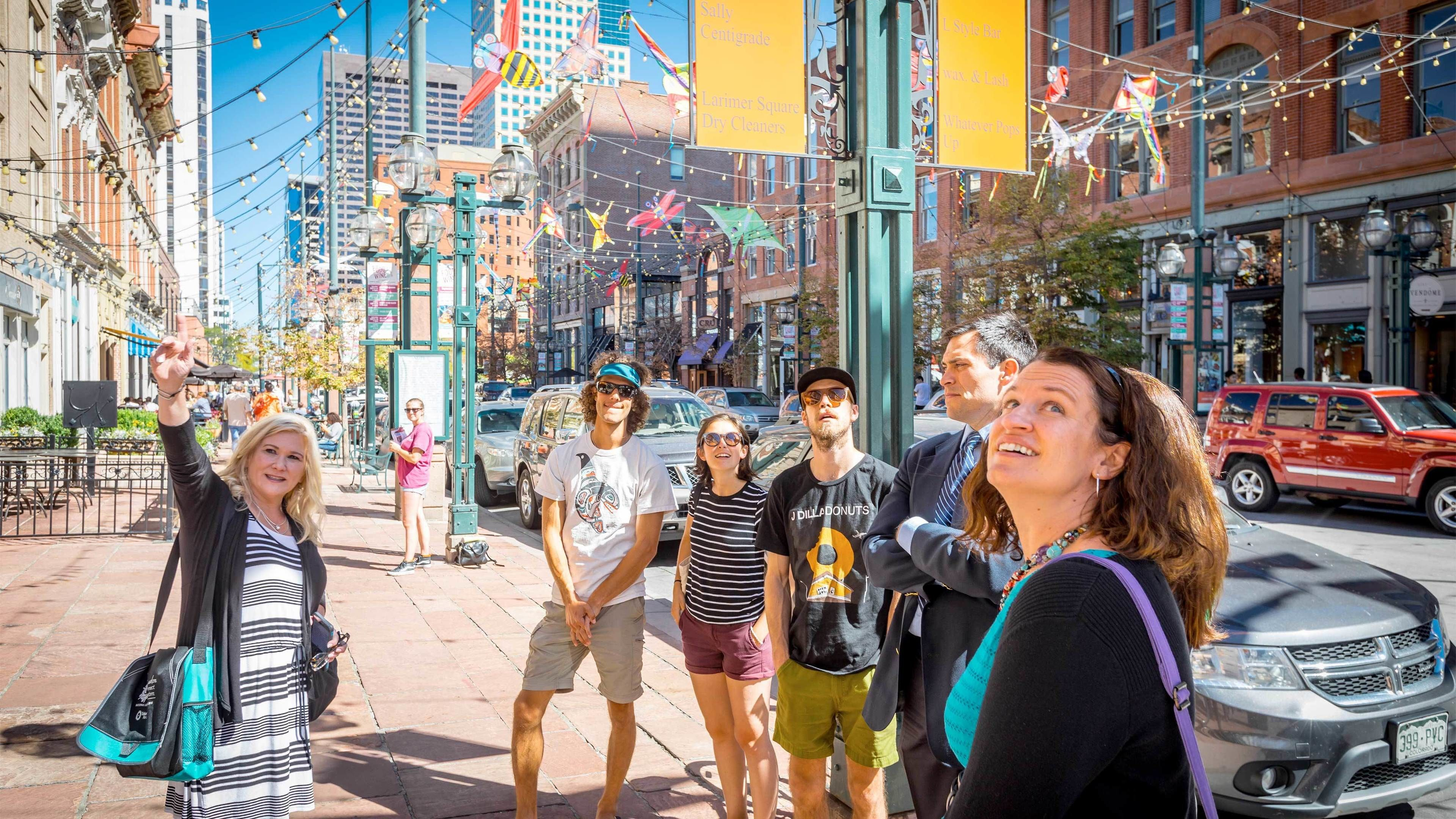 Group getting ready to go on the Downtown Denver Food Tour