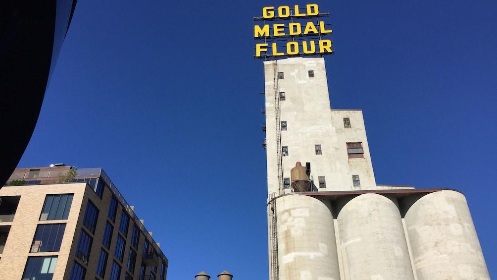 Show item 5 of 5. View of Gold Medal flour factory in Minneapolis