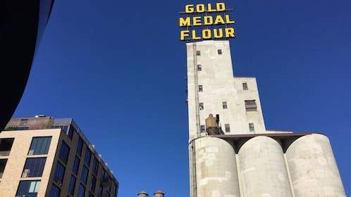 View of Gold Medal flour factory in Minneapolis