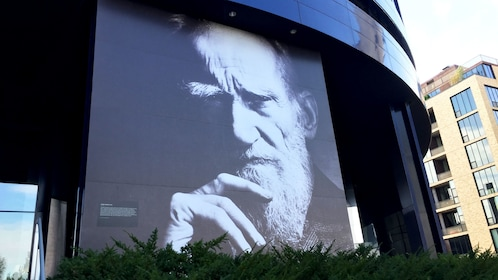 Portrait of George Bernard Shaw on Guthrie Theater in Minneapolis