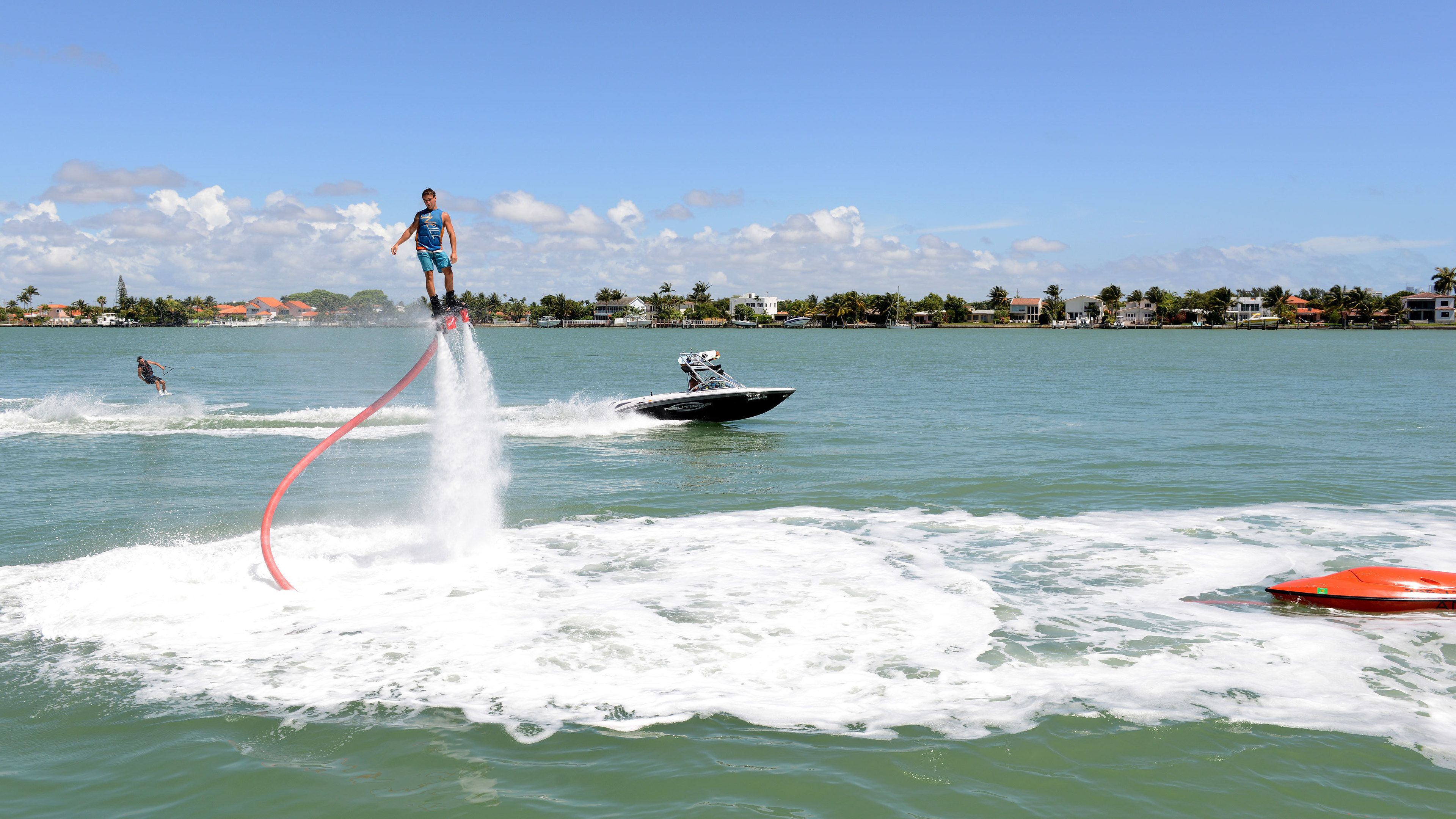 Man using flyboard in Miami