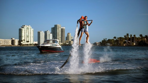 Man using a jetpack in Miami