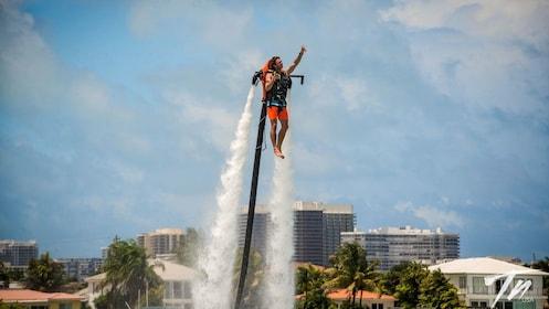Man using jetpack in Miami