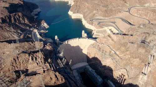 Aerial view of Hoover Dam.