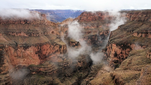misty canyon view in nevada