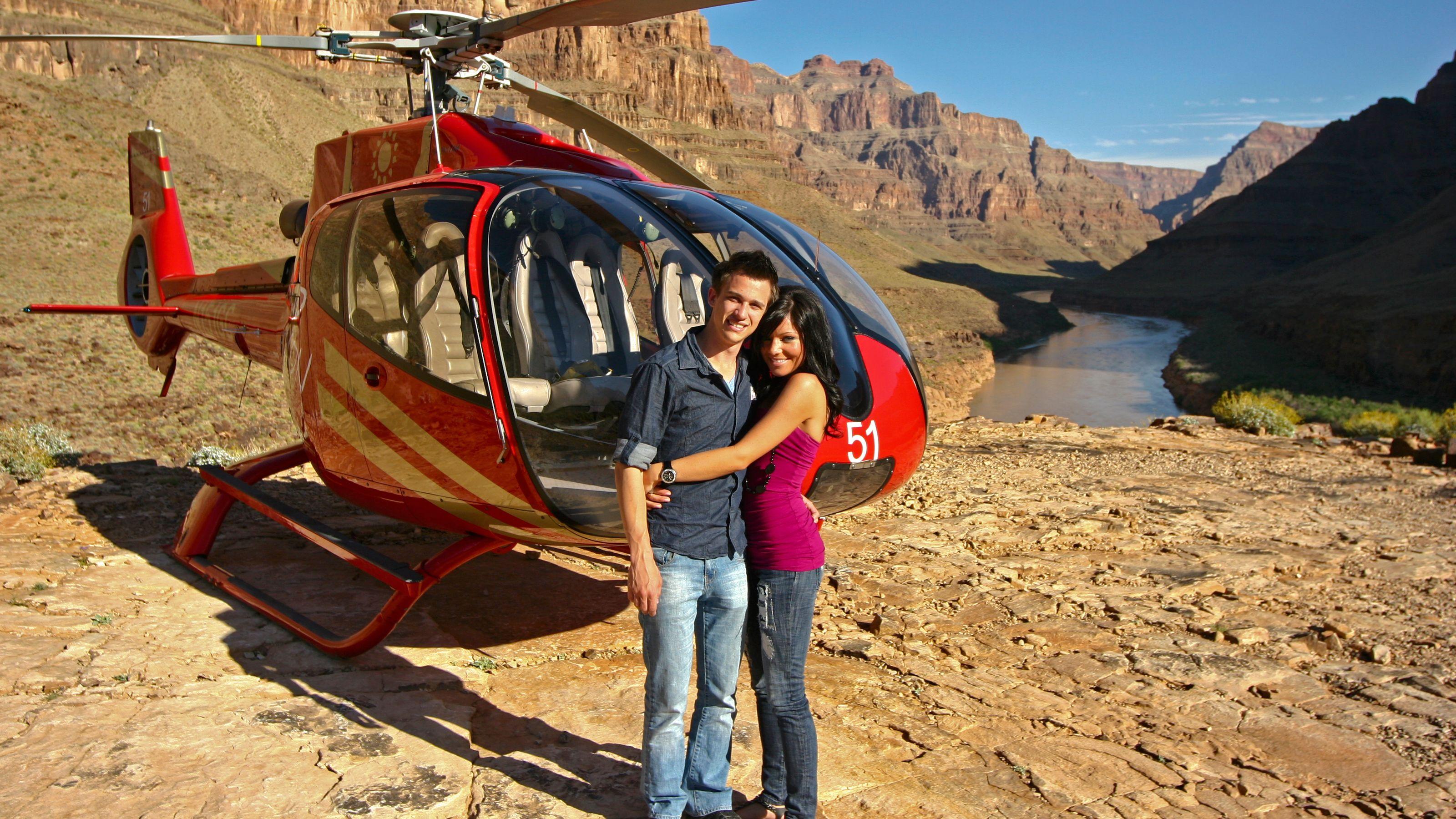 Lento Grand Canyoniin ja tyylikäs samppanjapiknik