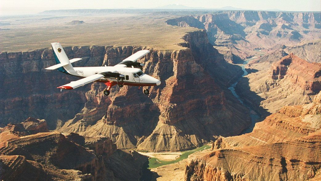 Grand Canyon West Plane, Helicopter & Riverboat Tour with Optional Skywalk