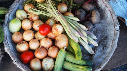 Bowl of fresh vegetables in Nha Trang