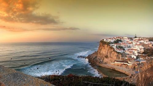 Town of Sintra along coastal cliffs