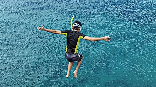 Man on the Saipan Sea Jumping and Nature Snorkeling Tour