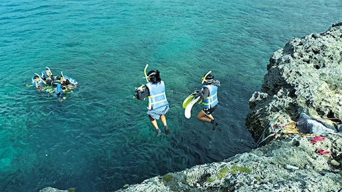 View of the Saipan Sea Jumping and Nature Snorkeling Tour