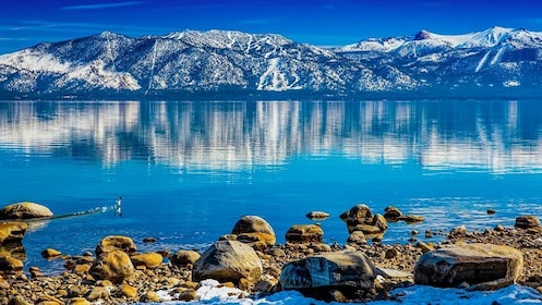 Panoramic reflections of Lake Tahoe