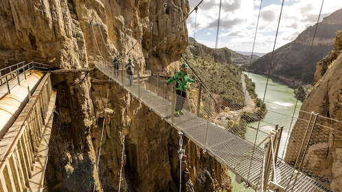 Group on the Caminito Del Rey Tour from Malaga