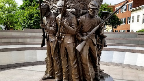 Statue of African Americans that served during the civil war in Washington D.C.