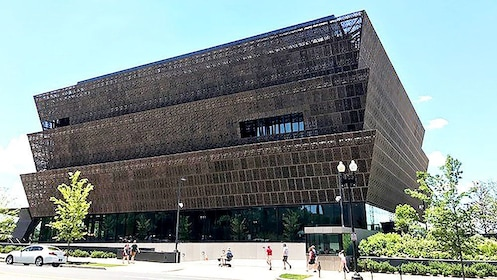 Exterior of the African American Museum in Washington D.C.