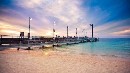 Pier at sunset in Tangalooma