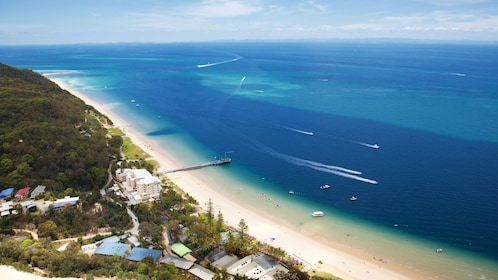Ariel view of Tangalooma