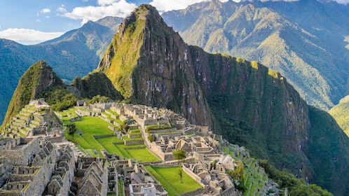 Landscape view of Huayna Picchu, a Mountain in Peru