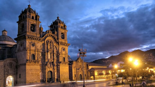 Night view of the 4-Day Magical Cusco tour in Peru