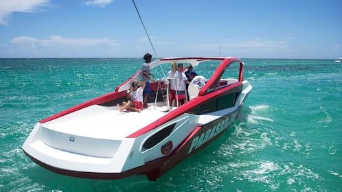 Staff on parasailing boat in Punta Cana