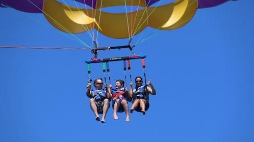 Family parasailing in Punta Cana
