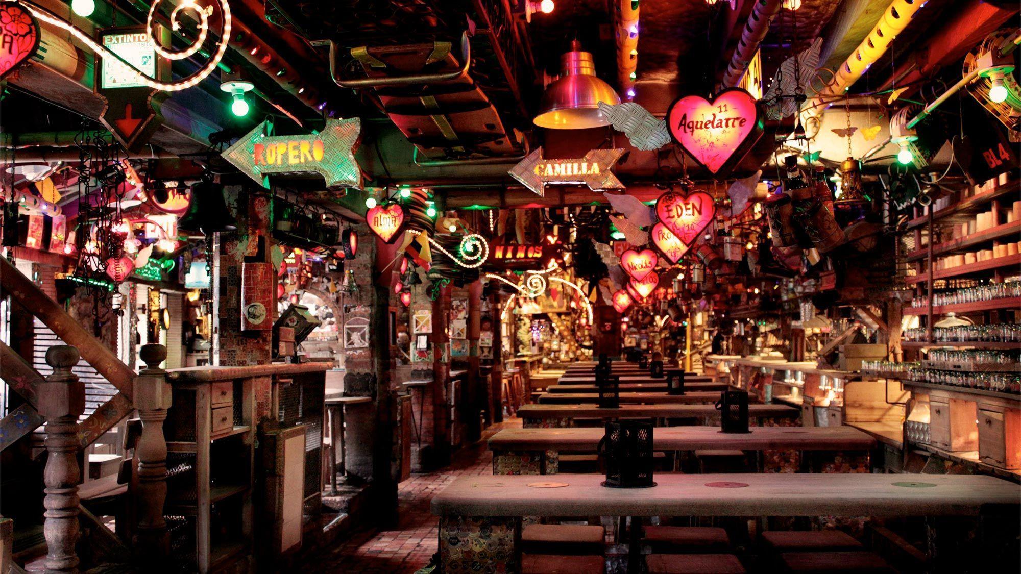 Interior view of the Andres Carne de Res restaurant-nightclub in Bogota