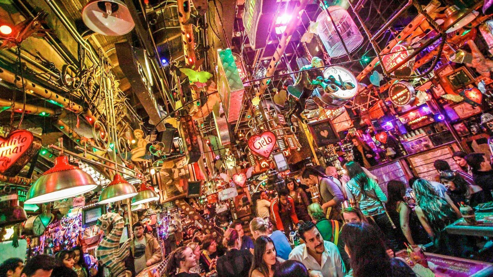 View inside the vibrand Bogota restaurant-nightclub Andres Carne de Res