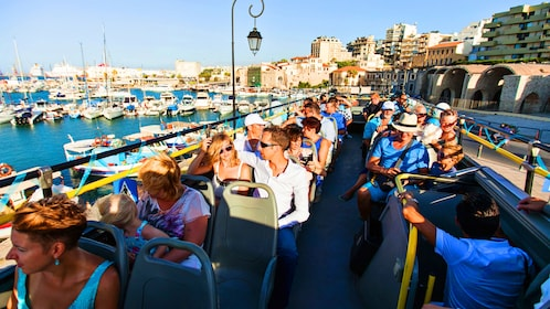 Party on a Hop on Hop Off bus on Crete Island