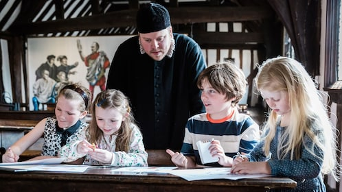 Kids at Shakespeare's Schoolroom in Birmingham