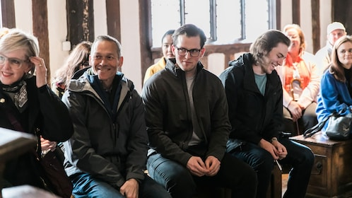 Tour group at Shakespeare's Schoolroom in Birmingham