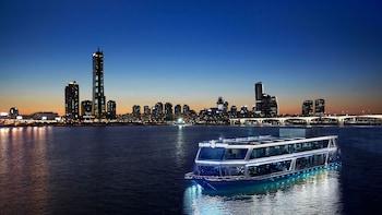 Nachtansichten der Seoul Tour mit Flusskreuzfahrt