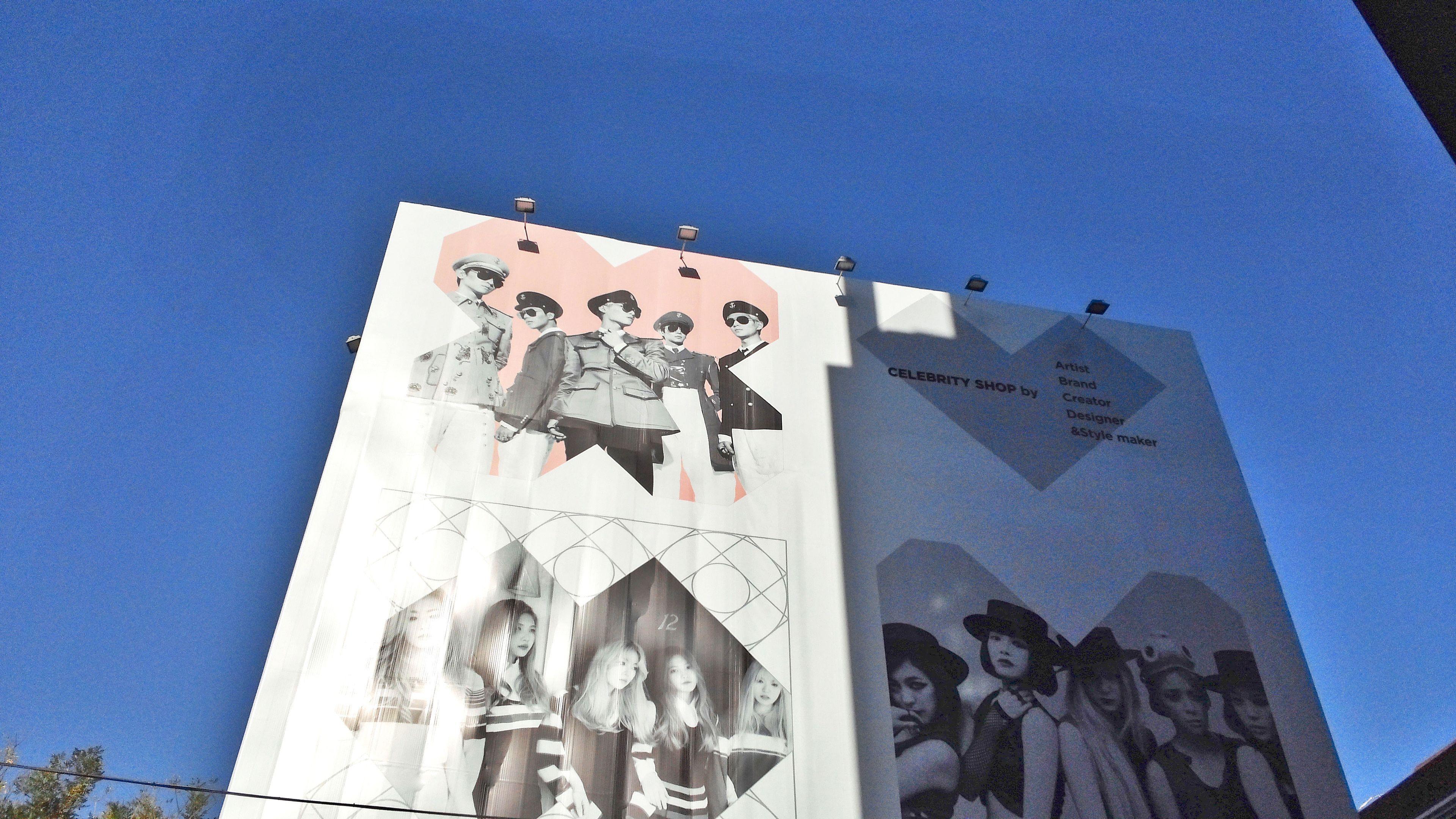 Billboard of K-Pop groups in Seoul