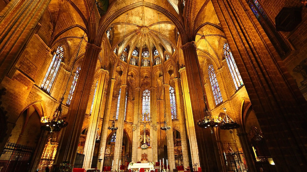 Show item 4 of 5. Interior of cathedral in Seville
