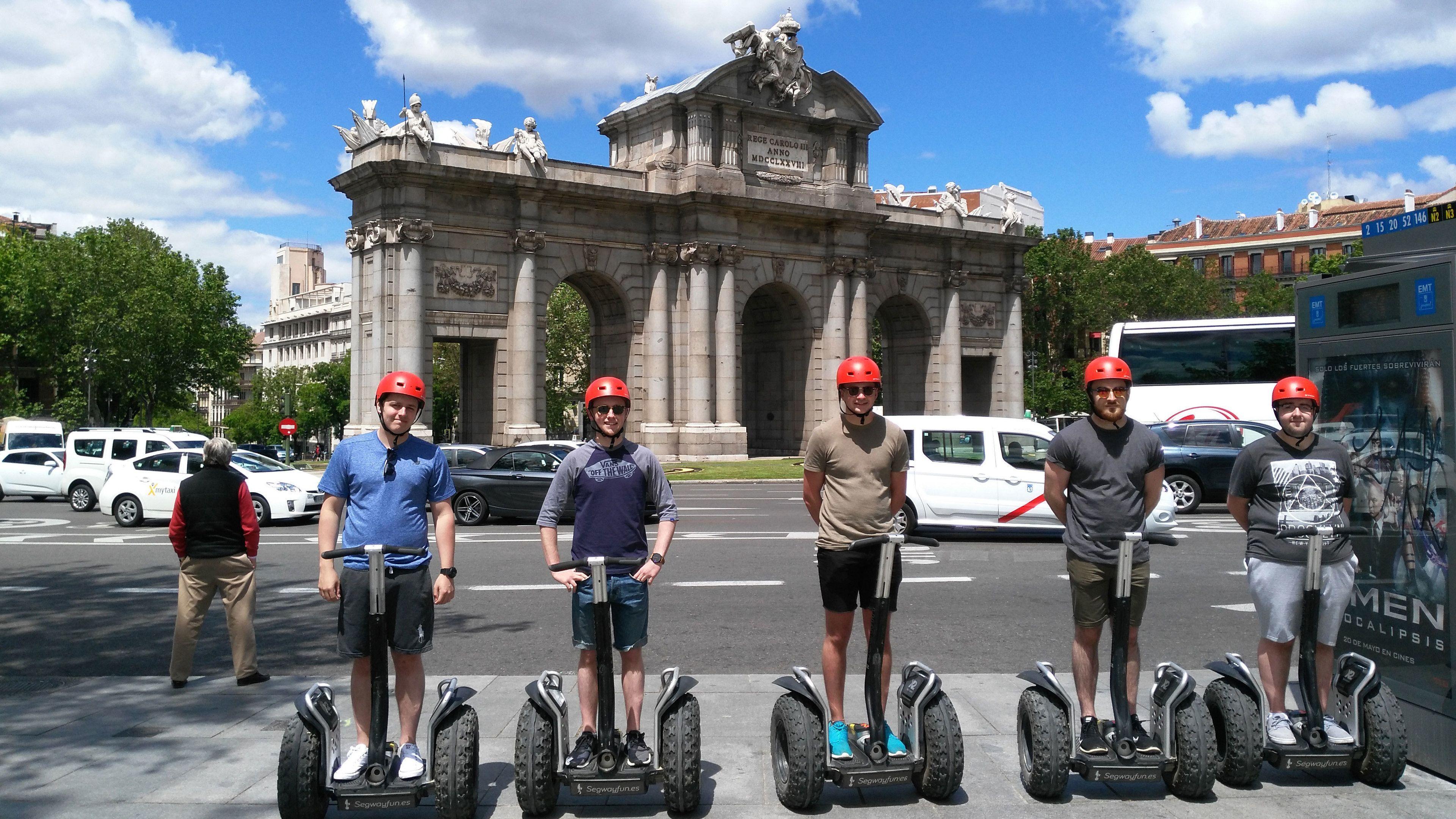 Group on segways in Madrid