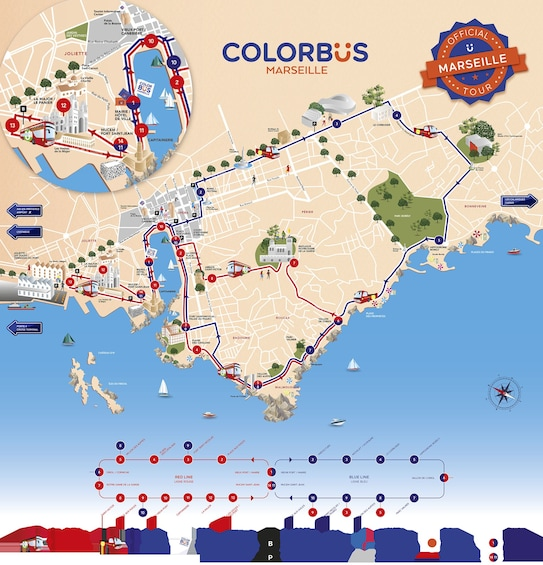 Show item 2 of 5. Colorbus Marseille Hop-On Hop-Off Sightseeing Tour