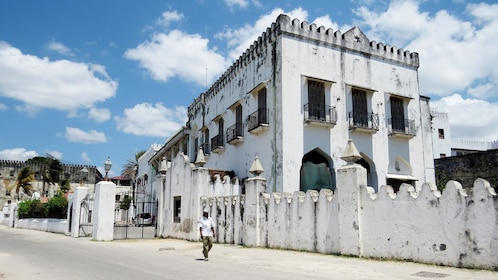 Street building view in Zanzibar City