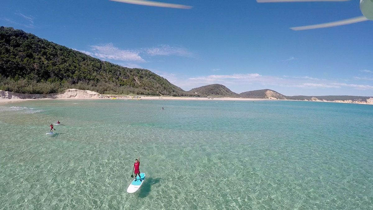 Double Island Stand Up Paddle Lesson & Day 4wd Adventure