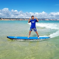Learn to Surf Australia's Longest Wave + Beach 4wd 1/2 Day