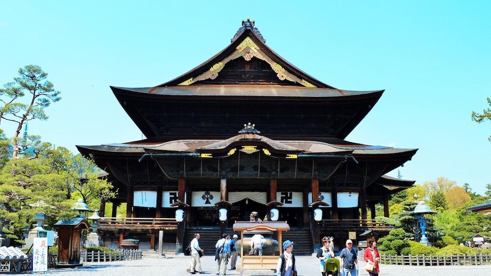Show item 2 of 5. View of the Zenkoji temple in in Koshinetsu