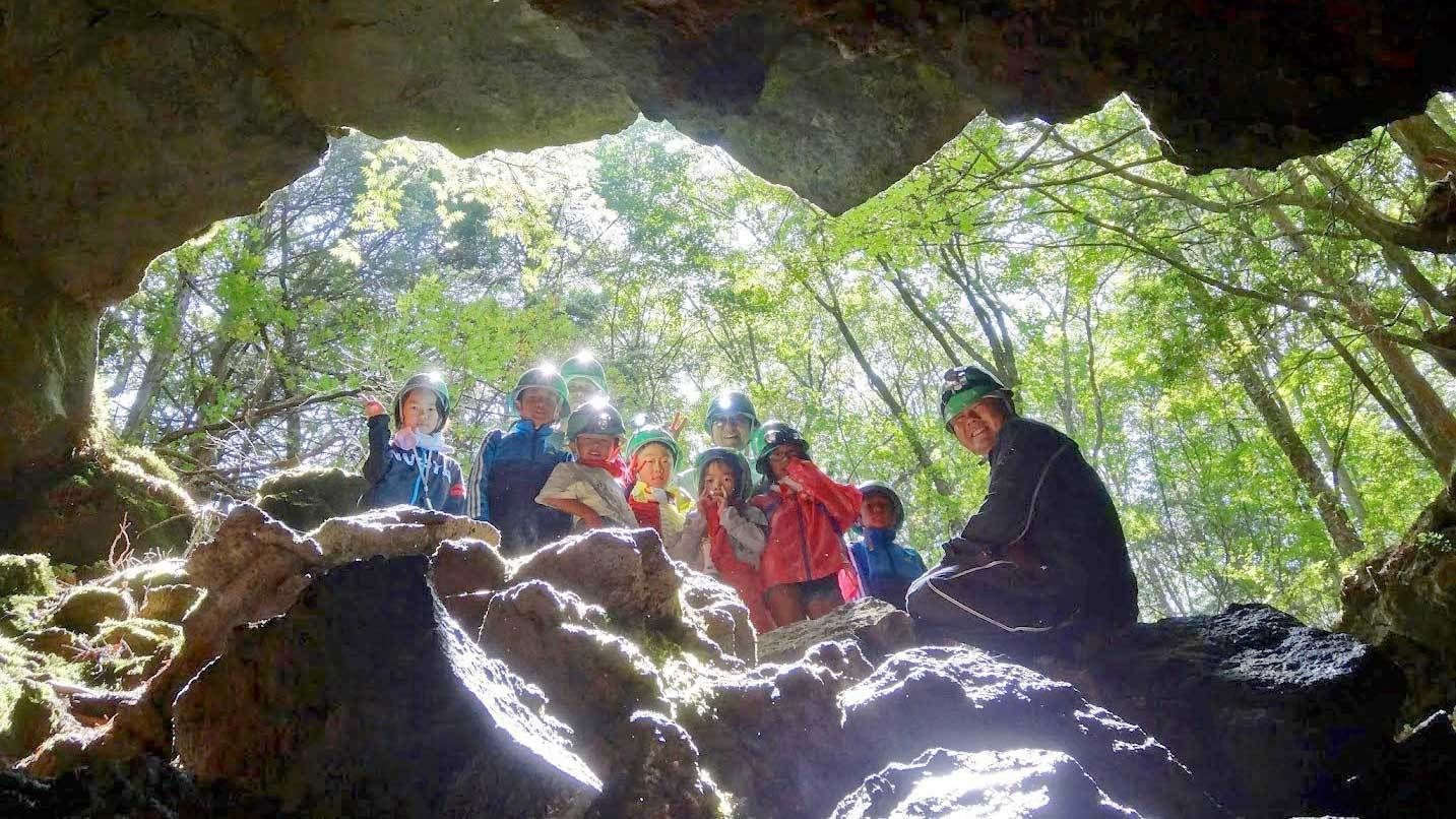 Group on the Aokigahara Forest and Ice Cave Tour in Japan