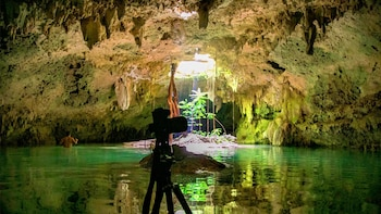 Private tour Cenote & Sian Kaan Sunset motorboat trip