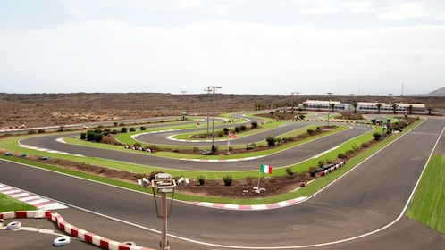 View of the go kart track in Lanzarote